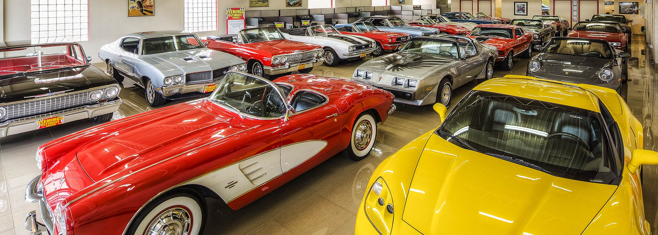 Home | Flemings Ultimate Garage Classic, Muscle, Exotic Cars for ...