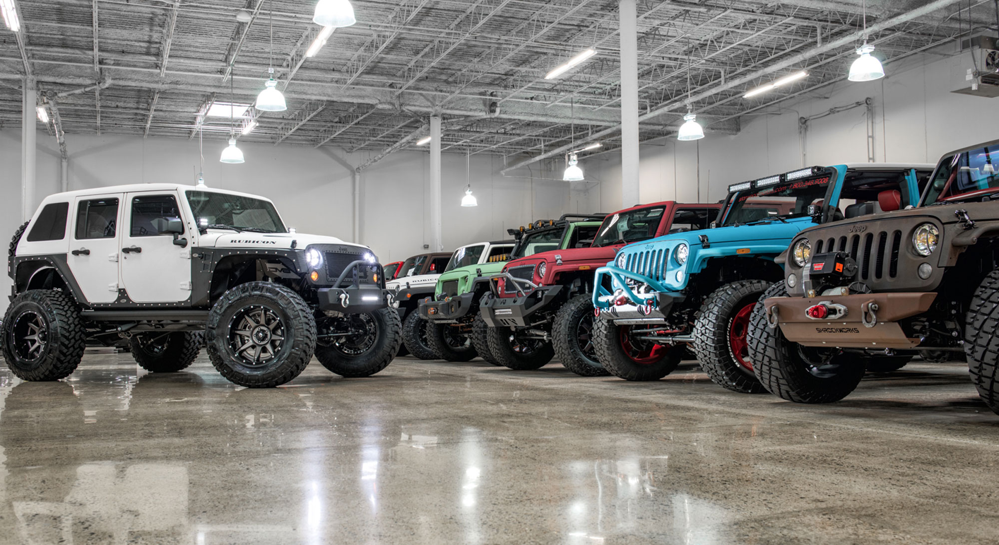 Jeeps showroom
